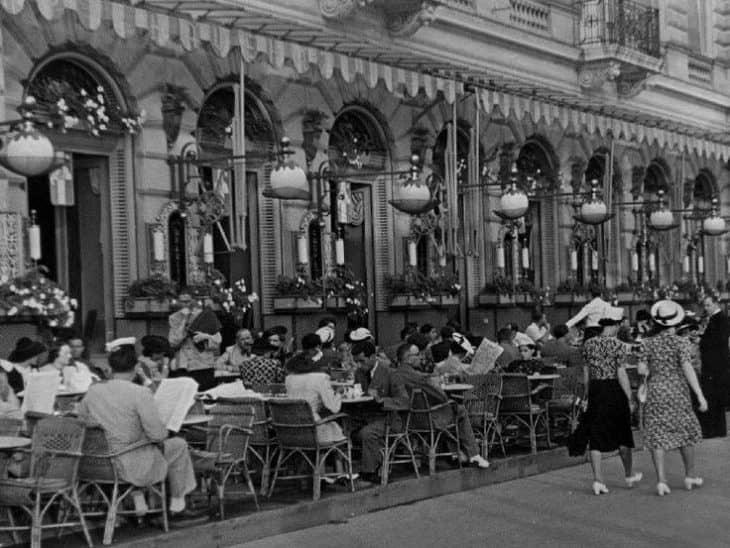 Одна из улиц Будапешта, 1930-ые гг.